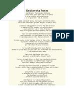 Desiderata Poem