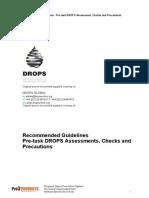 DROPS Pre Task Checklists Issue 01