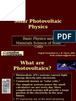 Solar Photovoltaics Physics