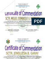 Certificates for Scouters Cmas Camporal