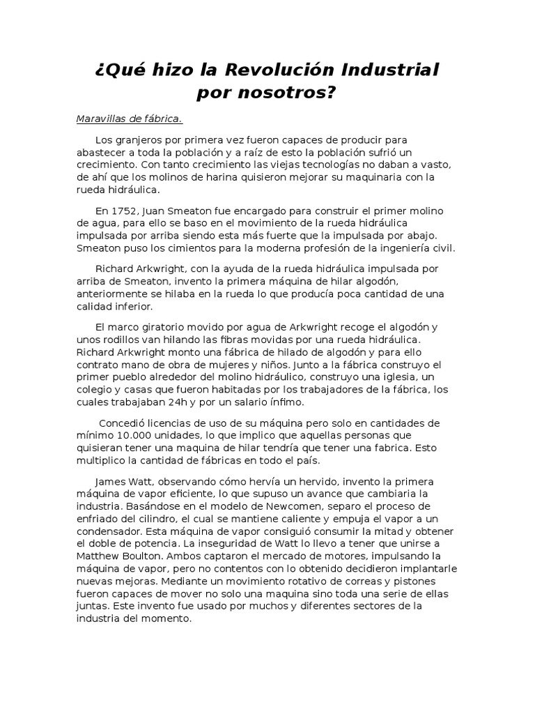 Vistoso Marco Agua Revolución Industrial Viñeta - Ideas ...