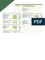 Balance Sheet With Ratios1