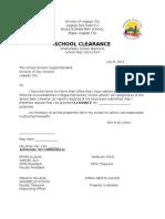 School Clearance