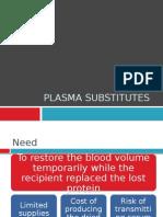 Plasma Substitutes