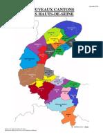 Carte Des Nouveaux Cantons Des Hauts-De-Seine