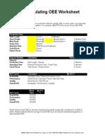 simple oee spreadsheet
