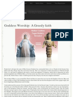 Goddess Worship Greedy Faith - Truth About the Catholic Mary