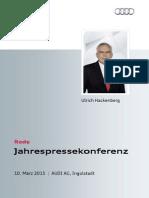 Ulrich Hackenberg - Jahrespressekonferenz 2015