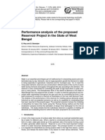 Performance analysis of the proposed Reservoir Project in the State of West Bengal