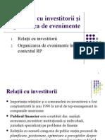 Relatii Cu Investitorii Si Evenimente