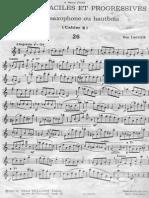 Guy Lacour - 50 Etudes Faciles Et Progressives Pour Saxophone Ou Hautbois (Cahier 2)