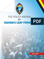 FDC Policy Agenda - Uganda's Leap Forward