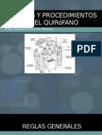Técnicas y Procedimientos en el Quirófano