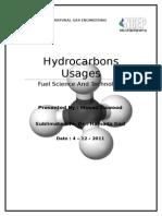 Hydrocarbon Usages