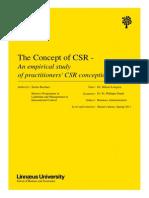 The Concept of CSR