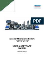 "modular Mechatronic System ""SSC2P2HV2 "" USER & SOFTWARE MANUAL"
