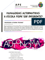 PEDAGOGIAS ALTERNATIVAS