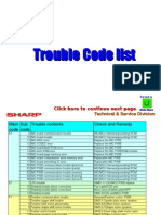 Trouble Code List  sharp codes