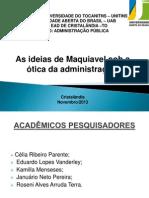 Seminario Adminsitração Publica - Maquiavel