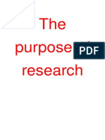 the purpose of research