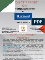 Customer Retention Strategies at HDFC Bank
