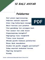 Puisi Bali Anyar 1