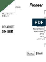 Pioneer Deh-4550bt Deh-x6550bt