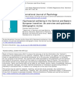 Psychosocial wellbeing in the Central and Eastern European transition