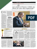 Las Relaciones Entre Perú y Chile No Se Circunscriben Al Caso Del Espionaje