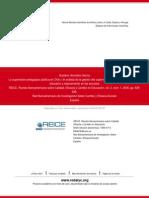 La Supervisión Pedagógica Pública en Chile. Un Análisis de La Gestión Del Supervisor Como Promotor d