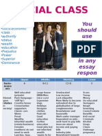 4- Social Class Essay Plan and PDCC Egs
