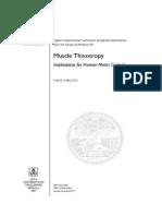 Muscle Thixotropy