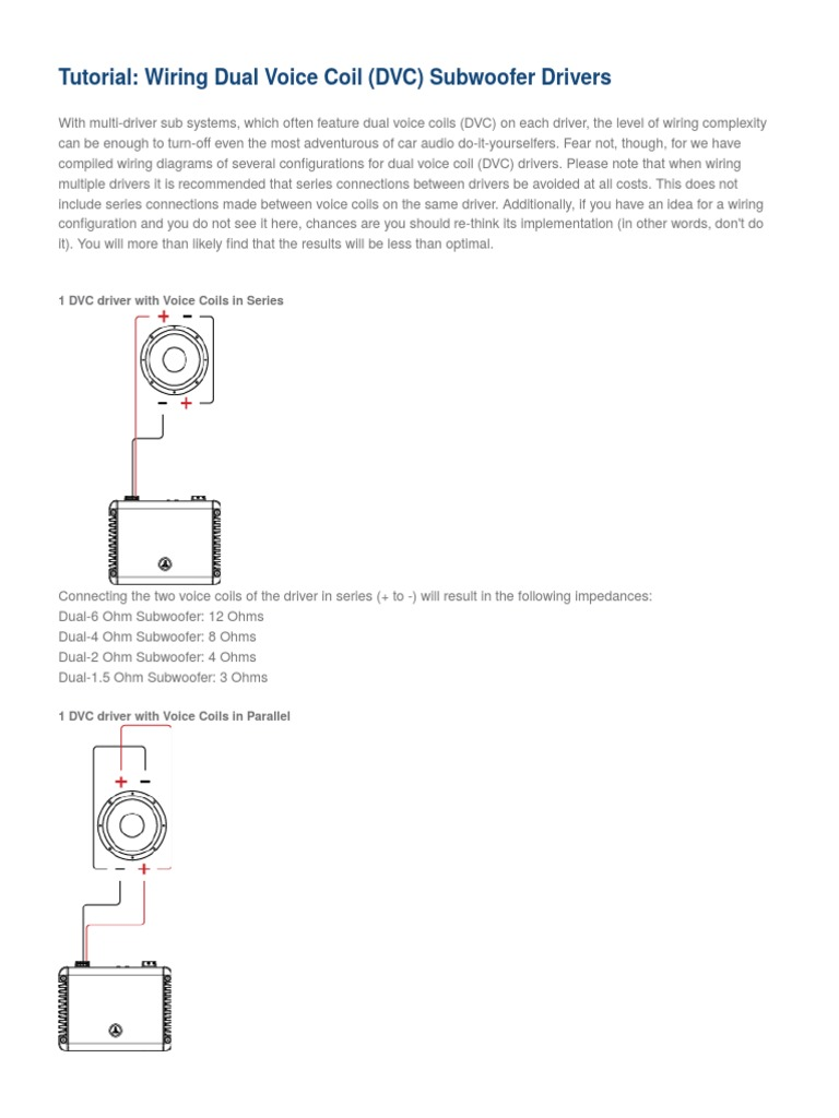 Fantastic Dual 4 Ohm Sub Photos - Best Images for wiring diagram ...