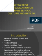 95256 Effects of Globalization on Japanese Food Culture And