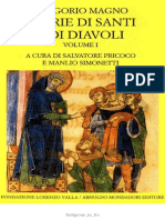 Gregorio Magno, A Cura Di Salvatore Pricoco e Manlio Simonetti-Storie Di Santi e Di Diavoli. Vol. 1-Mondadori Fondazione Lorenzo Valla (2005)