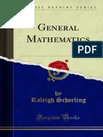 General Mathematics