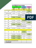 spring schedule april - june 2015