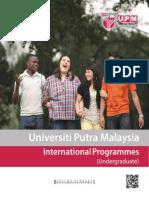 International Undergraduate Programmes 2013