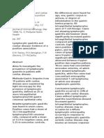 Lymphocytic Gastritis and Coeliac Disease
