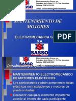 Mantenimiento de Motores -SASSO Electromecanica