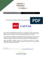 Communiqué - Médiation BUT International Cauval