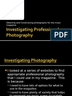 PHOTOGRAPHY (Student Copy) - Researching Photography Ideas