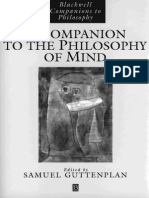 BLACKWELL - Companion of the Philosophy of Mind