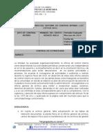 INFORME DEL ESTADO DEL SISTEMA  DE CONTROL INTERNO – LEY 1474 DE 2011