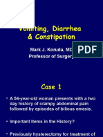Vomiting Diarrhea Constipation