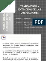Transmicion y Extincion de Las Obligaciones