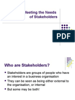 Needs Of stakeHolders