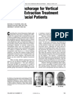 Skeletal Anchorage for Vertical Control in Extraction Tretament of Dolicofacial Patients