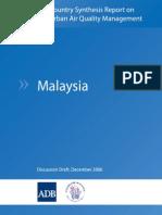 Urban Air Quality, Malaysia