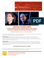 Jewish Songlines | Judeo-Spanish and Yiddish Music and Dance with Esti Kenan-Ofri (Israel) and Michael Alpert (United States)